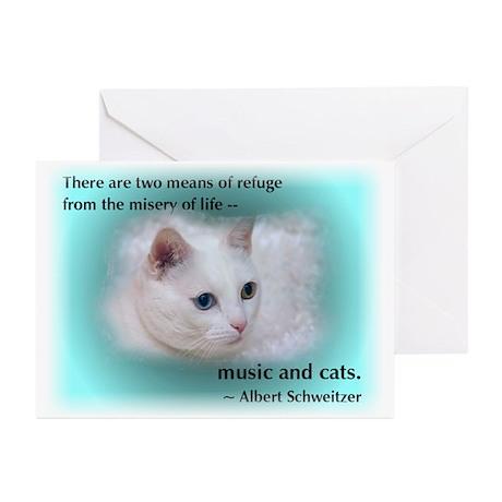 Schweitzer's Cat Greeting Cards (Pk of 10)
