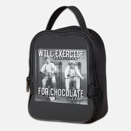 Lucy Ethel Exercise For Chocola Neoprene Lunch Bag
