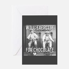 Lucy Ethel Exercise For Chocolate Greeting Card
