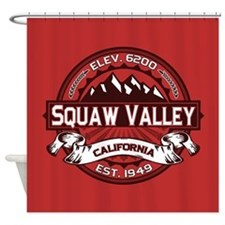 Squaw Valley Red Shower Curtain