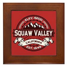 Squaw Valley Red Framed Tile