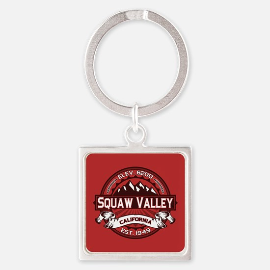 Squaw Valley Red Square Keychain