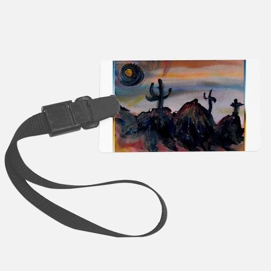 Desert, southwest landscape, art, Luggage Tag