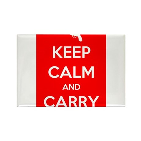 Keep Calm and Carry - Color Rectangle Magnet