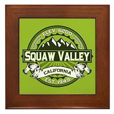 Squaw Valley Green Framed Tile