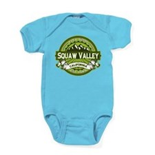 Squaw Valley Green Baby Bodysuit