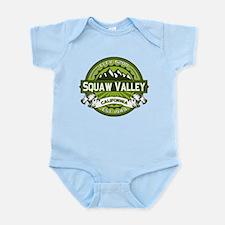 Squaw Valley Green Infant Bodysuit