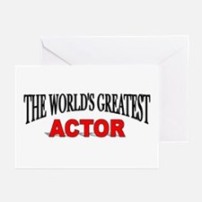 """The World's Greatest Actor"" Greeting Cards (Packa"