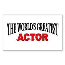 """""""The World's Greatest Actor"""" Rectangle Decal"""