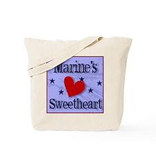 Marine's Sweetheart Tote Bag