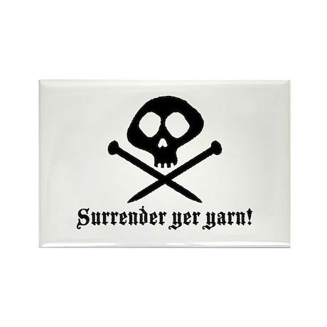 Surrender yer Yarn (yarn pirate) Rectangle Magnet