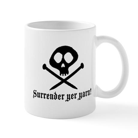 Surrender yer Yarn (yarn pirate) Mug