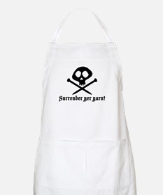 Surrender yer Yarn (yarn pirate) BBQ Apron