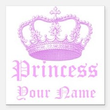 "Custom Princess Square Car Magnet 3"" x 3"""