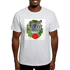 Chinchilla Wreath Ash Grey T-Shirt
