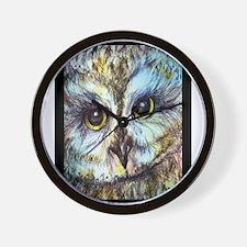 Owl, wildlife art! Wall Clock