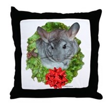 Chinchilla Wreath Throw Pillow