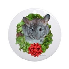 Chinchilla Wreath Ornament (Round)