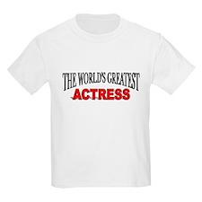 """The World's Greatest Actress Kids T-Shirt"