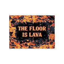 The Floor Is Lava 5'x7'Area Rug