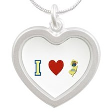 I Love New Jersey Silver Heart Necklace
