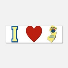 I Love New Jersey Car Magnet 10 x 3