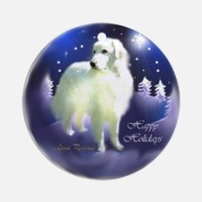 Great Pyrenees Christmas Ornament (Round)