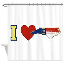 I Love North Carolina Shower Curtain