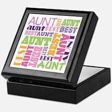 Best Aunt Design Gift Keepsake Box