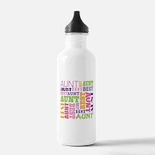 Best Aunt Design Gift Sports Water Bottle