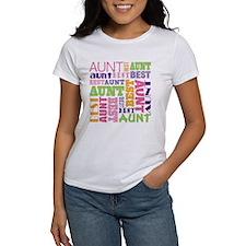 Best Aunt Design Gift Tee