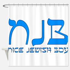 NJB - Nice Jewish Boy Shower Curtain