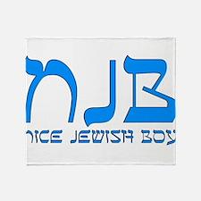 NJB - Nice Jewish Boy Throw Blanket