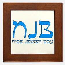 NJB - Nice Jewish Boy Framed Tile