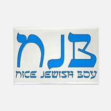 NJB - Nice Jewish Boy Rectangle Magnet