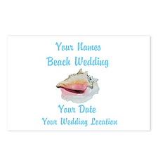 Custom Beach Wedding Postcards (Package of 8)