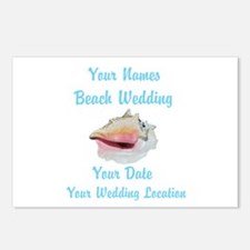 Custom Beach Wedding Postcards (Package of 8)