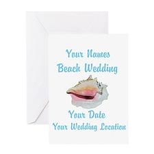 Custom Beach Wedding Greeting Card