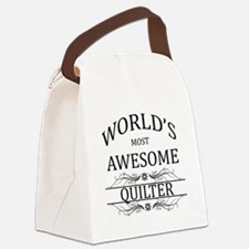 World's Most Awesome Quilter Canvas Lunch Bag