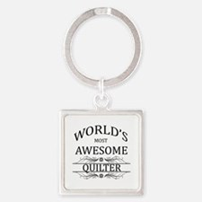 World's Most Awesome Quilter Square Keychain