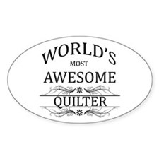 World's Most Awesome Quilter Stickers