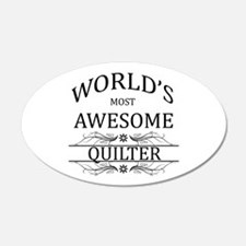 World's Most Awesome Quilter Wall Decal