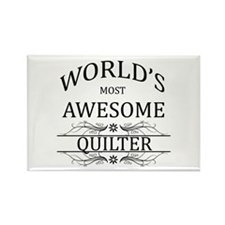 World's Most Awesome Quilter Rectangle Magnet