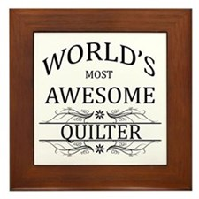 World's Most Awesome Quilter Framed Tile