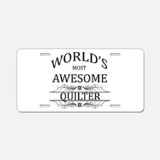 World's Most Awesome Quilter Aluminum License Plat