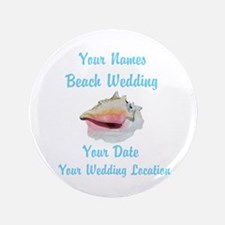 "Custom Beach Wedding 3.5"" Button"