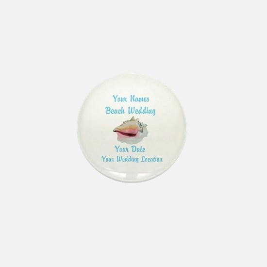 Custom Beach Wedding Mini Button