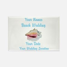 Custom Beach Wedding Rectangle Magnet