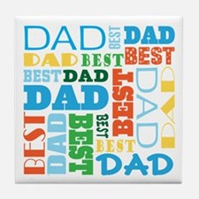 Best Dad Gift Tile Coaster