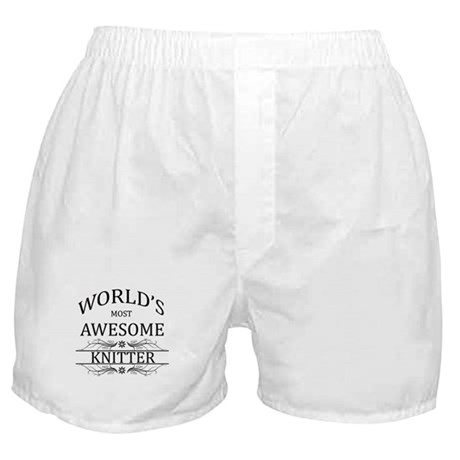 World's Most Awesome Knitter Boxer Shorts